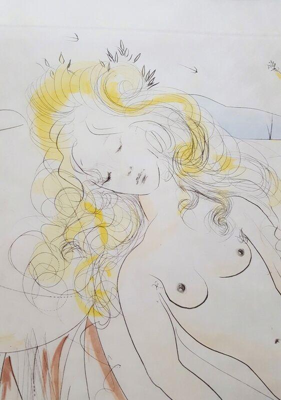Salvador Dalí, 'Venus et Le Joueur d'Orgue (Venus and the Organ-Player)', 1971, Print, Drypoint Etching, Graves International Art