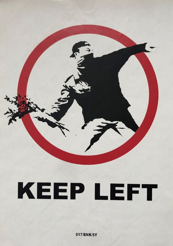 Banksy, 'Keep Left', 2006, Other, XXL Fasson crack back paste up sticker, Tate Ward Auctions