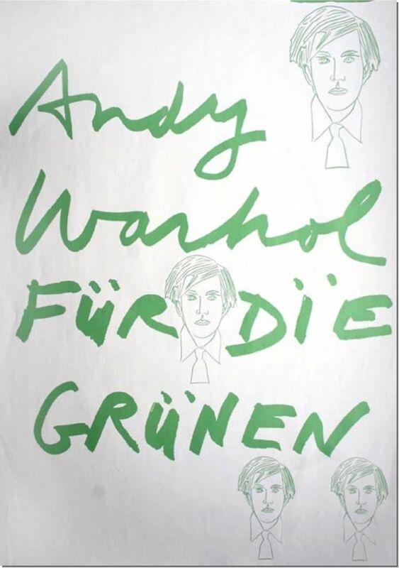 Andy Warhol, 'Andy Warhol fuer die Gruenen', 1979, Print, Color-silkscreen from an original sketch, Cerbera Gallery