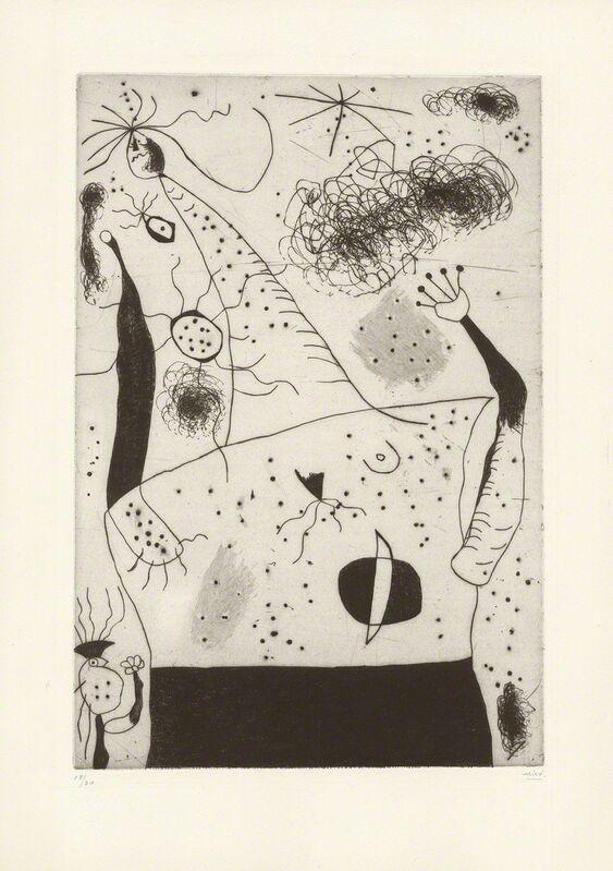 Joan Miró, 'La géante', 1938, Print, Drypoint and aquatint, Galerie Boisseree
