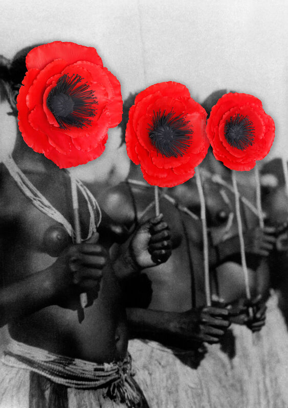 Owanto, 'Flowers VII', 2020, Photography, UV print on aluminium with cold porcelain flower, Sakhile&Me