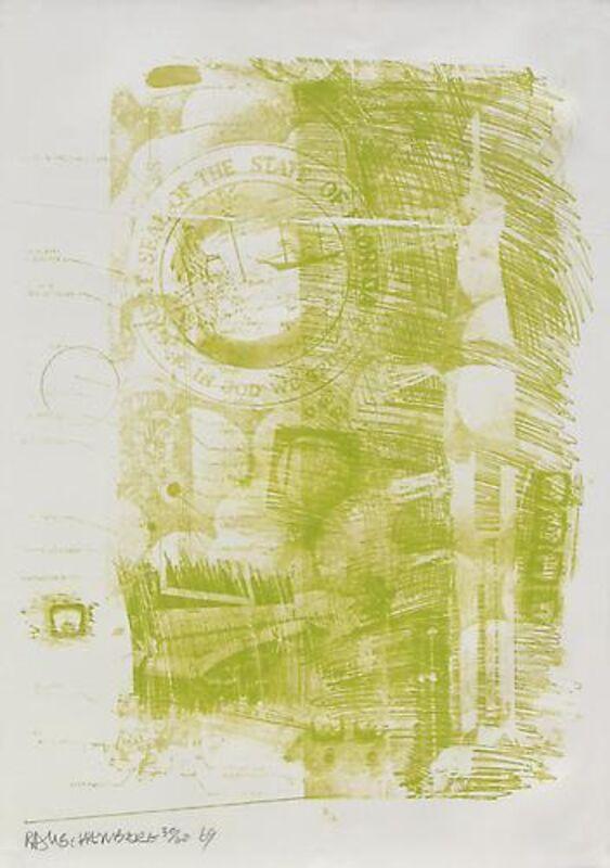 Robert Rauschenberg, 'Marsh', 1969, Print, Lithograph, Vertu Fine Art