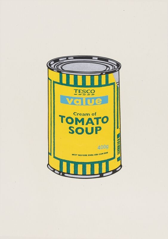 Banksy, 'Soup Can, (Yellow/Emerald/Sky Blue)', 2005, Print, Screenprint in colours, Forum Auctions