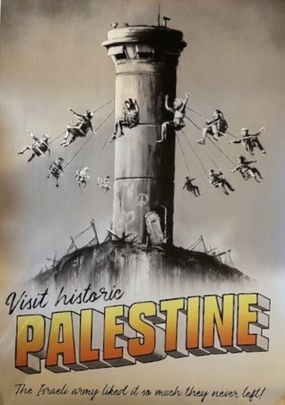 Banksy, 'Welcome to Palestine', 2018, Print, Offset lithograph in colours on paper, Artsy x Capsule Auctions