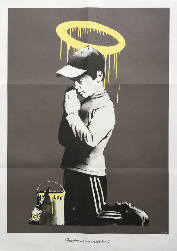 Banksy, 'Forgive us our trespassing', 2010, Print, Offset lithograph printed in colours on wove paper, Oliver Clatworthy Gallery Auction