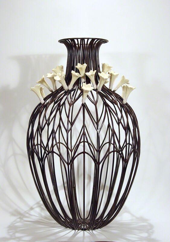 Kim Cridler, 'Field Study 6', 2011, Sculpture, Steel, slip-cast vitreous china, Lisa Sette Gallery