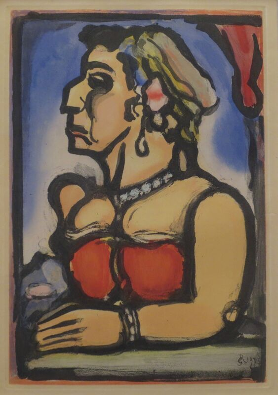 Georges Rouault, 'Madame Carmencita', 1938, Print, Aquatint on Imperial Japan paper, Isselbacher Gallery