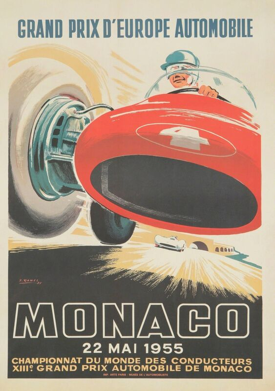 J. Ramel, 'GRAND PRIX D'EUROPE AUTOMOBILE', Posters, Promotional poster, second edition., Cambi