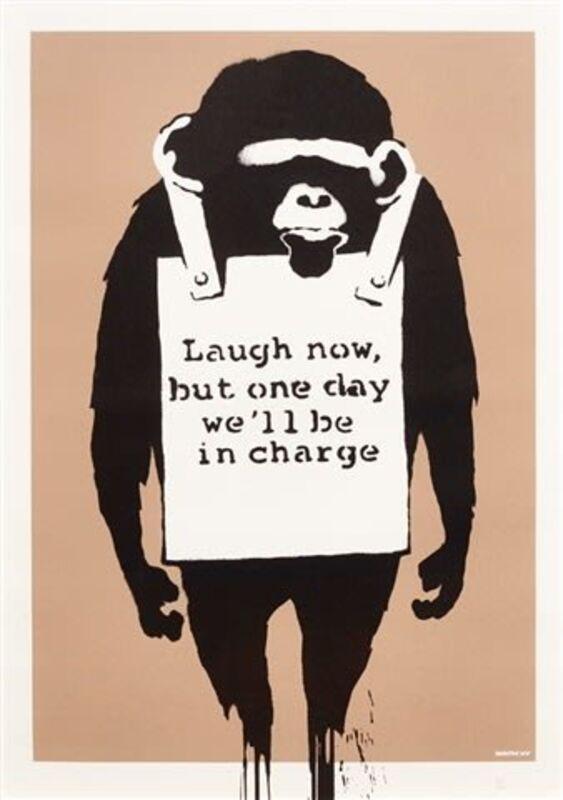 Banksy, 'Laugh Now ', 2005, Print, Screenprint on paper., Neon Gallery