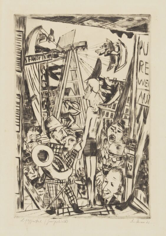 Max Beckmann, 'The Tall Man', 1921, Print, Etching on cream wove paper, worked over in ink., Galerie St. Etienne