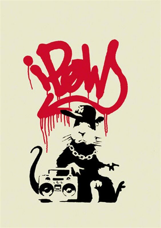 Banksy, 'Gangsta Rat - Unsigned', 2004, Print, Screen print on paper, Hang-Up Gallery