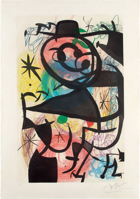 Joan Miró, 'Le Pitre rose (The Pink Clown)', 1974, Print, Etching and aquatint in colors, on wove paper watermark Maeght, with full margins., Phillips