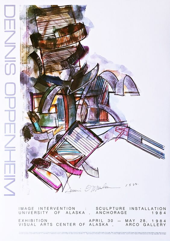 Dennis Oppenheim, 'Image Intervention (Hand Signed)', 1984, Posters, Offset Lithograph. Hand Signed. Dated. Unframed., Alpha 137 Gallery