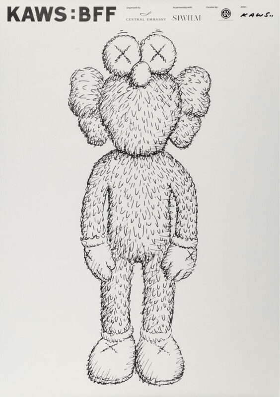 KAWS, 'BFF 2016 Exhibition Poster', 2016, Print, Screen print, Dope! Gallery Gallery Auction