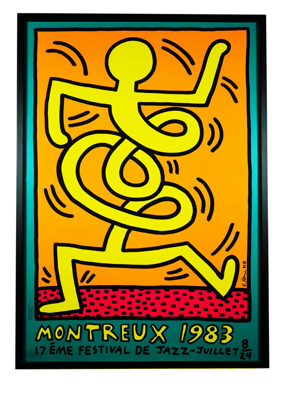 Keith Haring, 'Montreux 1983 (Prestel 9)', 1983, Print, Screen print in colours on thick wove paper, Hidden
