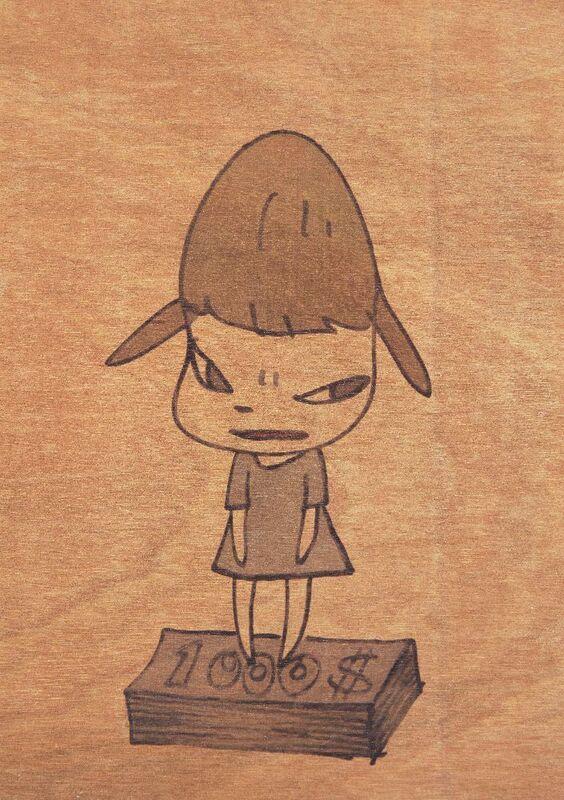 Yoshitomo Nara, 'BALTIC's Exhibition Invitation Card', 2008, Print, Print in colours on cedar, Roseberys