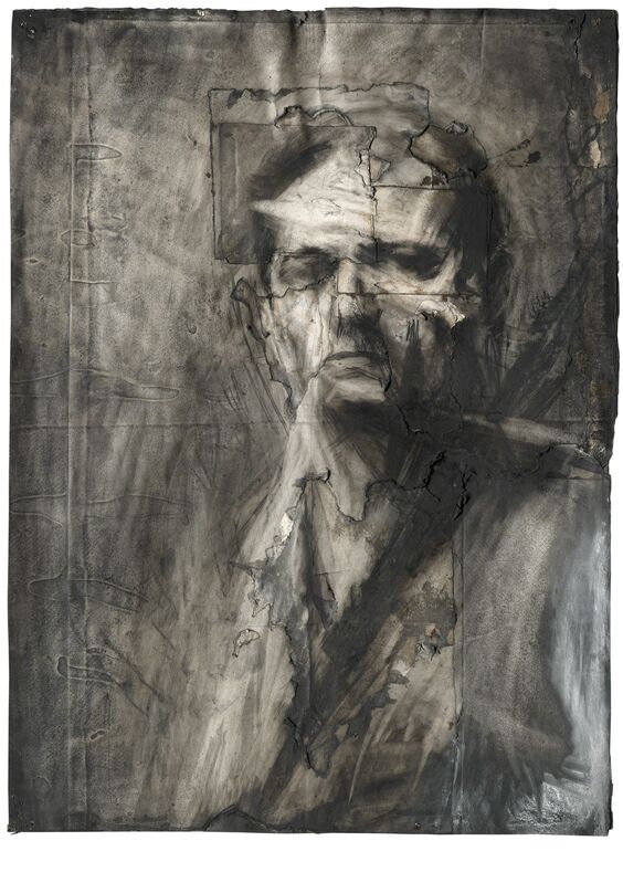 Frank Auerbach, 'Self-portrait', 1958, Charcoal and chalk on paper, Tate Britain