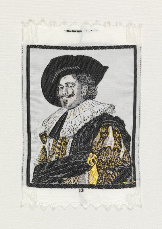 Warner-Artex, 'The Laughing Cavalier (1624) by Frans Hals (1584-1666)', 1959-1960, Design/Decorative Art, Jacquard woven silk, Cooper Hewitt, Smithsonian Design Museum