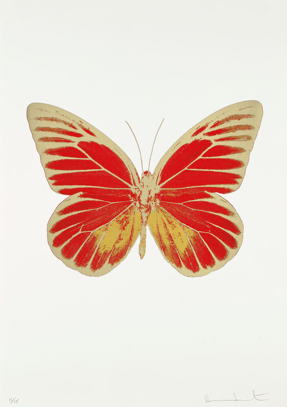 Damien Hirst, 'The Souls IV: Chilli Red-Oriental Gold', 2010, Print, Foil block print in colors, on Arches 88 Archival paper, with full margins., Phillips
