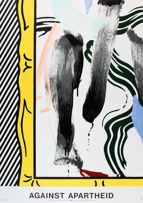 Roy Lichtenstein, 'Against Apartheid', 1983, Ephemera or Merchandise, Stone Lithograph, ArtWise