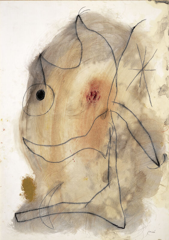 Joan Miró, 'Personnage dans la nuit III', 1965, Drawing, Collage or other Work on Paper, Watercolor, gouache and wax crayon on paper, Galerie Lelong & Co.