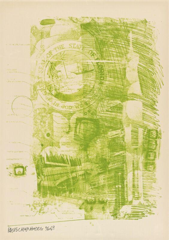 Robert Rauschenberg, 'Marsh (Stoned Moon)', 1969, Print, Lithograph, San Francisco Museum of Modern Art (SFMOMA)