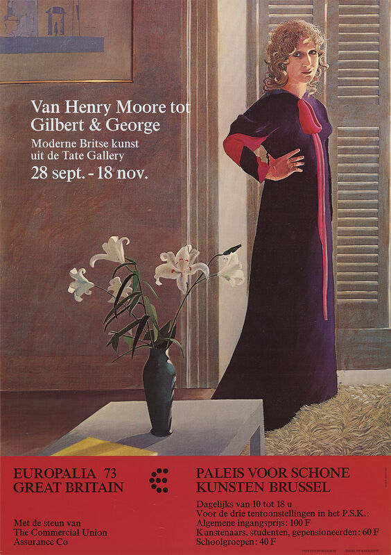 David Hockney, 'Van Henry Moore tot Gilbert & George', 1973, Ephemera or Merchandise, Offset Lithograph, ArtWise