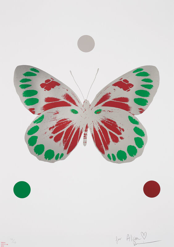 Damien Hirst, 'Science Xmas Butterfly Print', 2010, Print, Foil-block print in colours, on Arches 88 paper, with full margins., Phillips