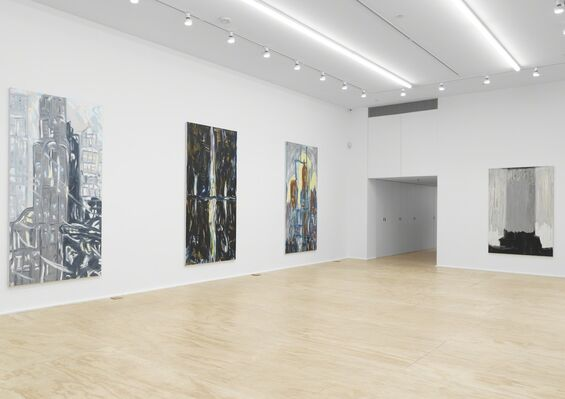 Martha Diamond: Cityscapes, installation view