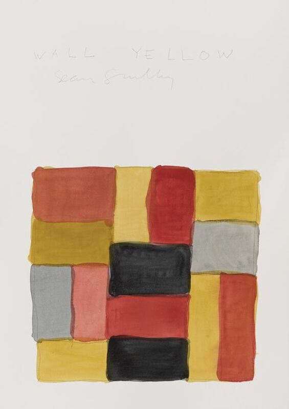 Sean Scully, 'Wall Yellow (Myanmar)', 2021, Posters, Offset lithograph on 250gsm card, EHC Fine Art