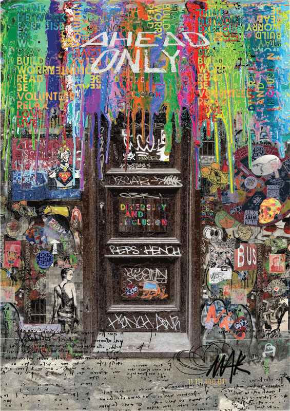 MAK Koerich, 'AHEAD ONLY', 2018, Mixed Media, Digital Art, Saphira & Ventura Gallery