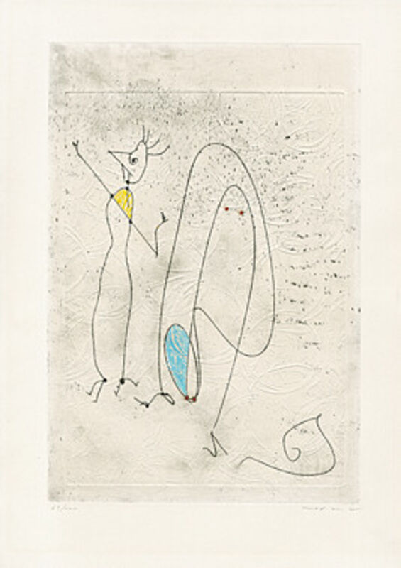 Max Ernst, 'Les noces interrompues', 1971, Print, Etching with embossing and hand coloring, Galerie Boisseree