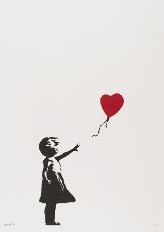 Banksy, 'Girl with Balloon', 2004, Print, Screenprint in colours, on wove paper, Carmichael Gallery