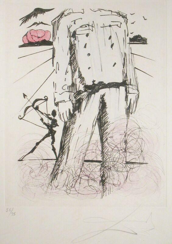 Salvador Dalí, 'Portrait of Mao', 1967, Print, Etching on Japon Paper, DTR Modern Galleries