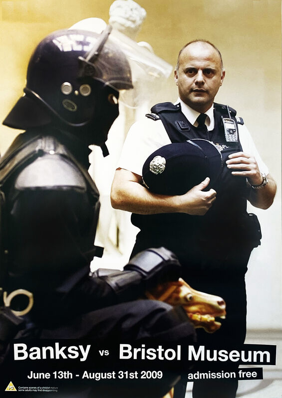 Banksy, ''Banksy vs. Bristol Museum: Copper'', 2009, Ephemera or Merchandise, Offset lithograph on white satin poster paper., Signari Gallery