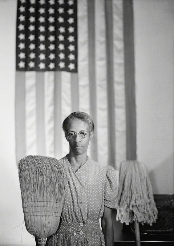 Gordon Parks, 'American Gothic, Washington, D.C.', 1942, Photography, Gelatin silver print, Robert Klein Gallery
