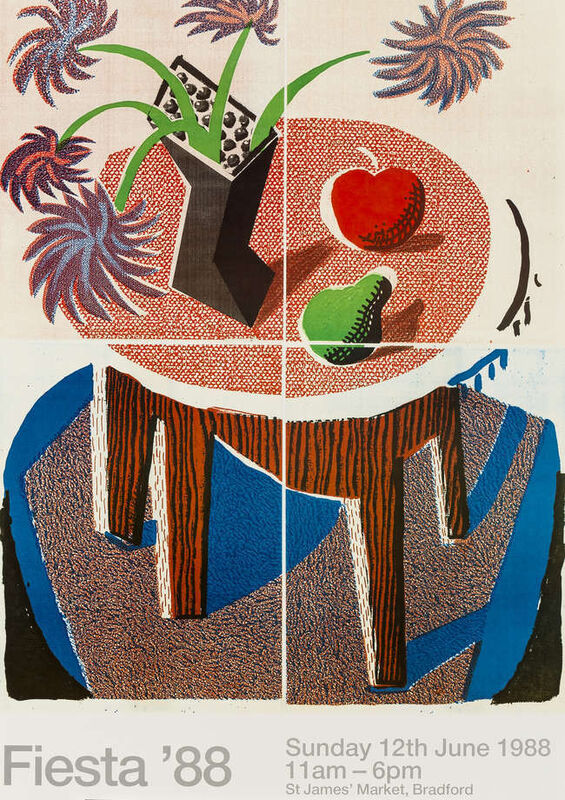 David Hockney, 'Fiesta', 1988, Print, Offset Lithograph, Oliver Clatworthy Gallery Auction