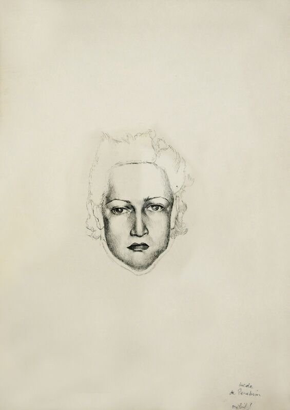 Hedda Sterne, 'Selfportrait', Drawing, Collage or other Work on Paper, Ink on paper, Postmodernism Museum