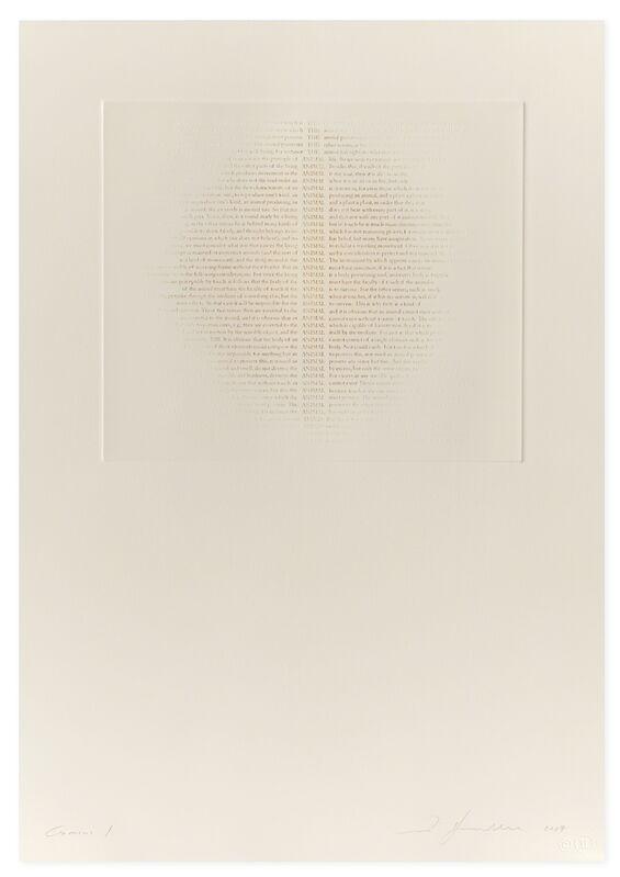 Ann Hamilton, 'THE ANIMAL HAND', 2017, Print, Blind embossment with hand-applied ink, Gemini G.E.L. at Joni Moisant Weyl