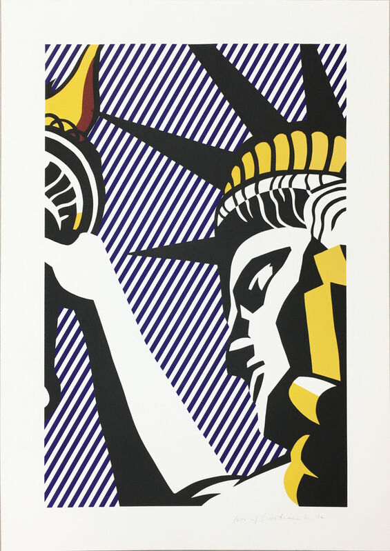 Roy Lichtenstein, 'I Love Liberty', 1982, Print, Screenprint in colors, on Arches 88 paper, Upsilon Gallery