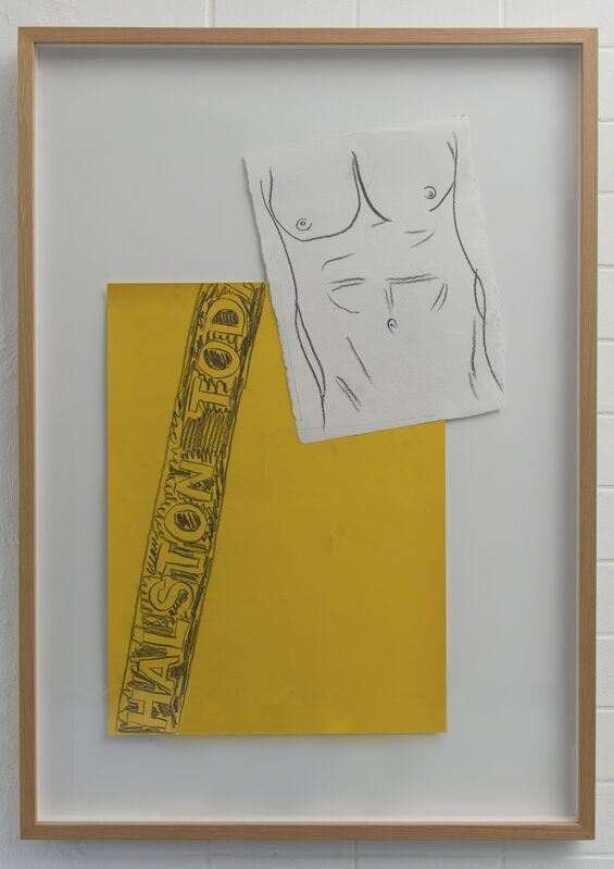 Andy Warhol, 'Halston Torso', 1982, Drawing, Collage or other Work on Paper, Drawing and collage stiched together by the artist, MultiplesInc Projects