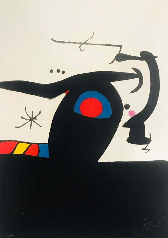 Joan Miró, 'Le Tambour-major (The Drum-Major)', 1978, Print, Color etching and aquatint on Arches paper, Invertirenarte.es