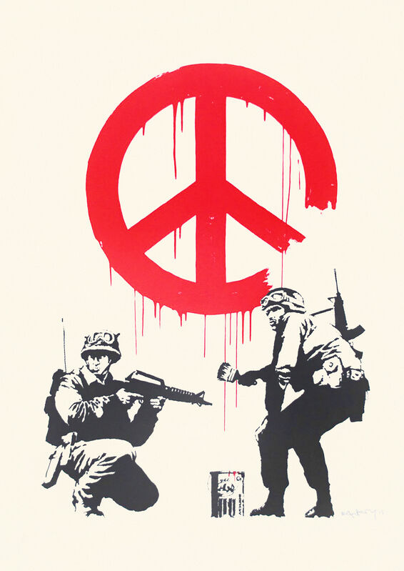 Banksy, 'CND Soldiers', 2005, Print, Screen print in colours on wove paper, Tate Ward Auctions