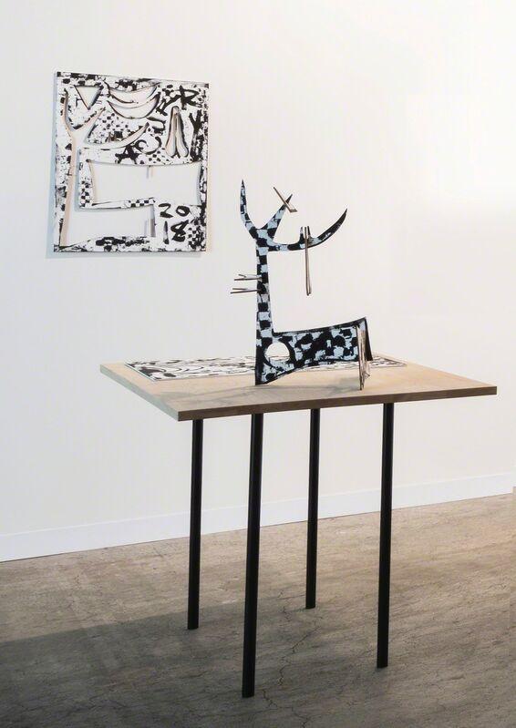 Aaron Curry, 'Command Plus Minus', 2018, Sculpture, Multiple, paint on wood, Galerie Sabine Knust | Knust Kunz Gallery Editions