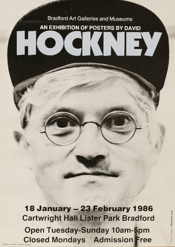 David Hockney, 'An Exhibition Of Posers By David Hockney (Bradford Art Galleries & Museums)', 1986, Print, Offset lithographic poster printed in colours, Sworders