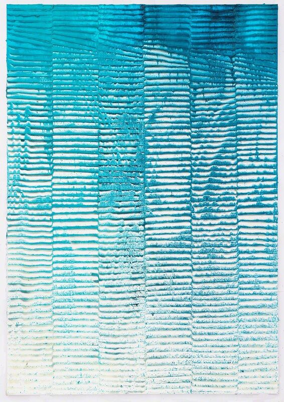 Koen Delaere, 'Untitled (as purple as we go)', 2016, Painting, Oil, acrylic and cyanotype chemicals on canvas, Gerhard Hofland