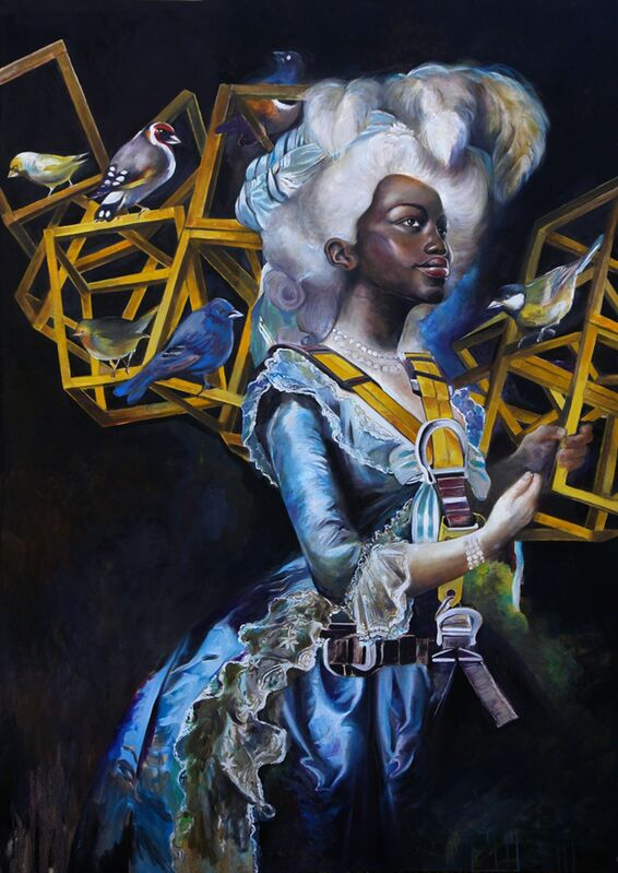 Julien Grudzinski, 'Love Symbol', 2011, Painting, Oil on canvas, Wide Painting