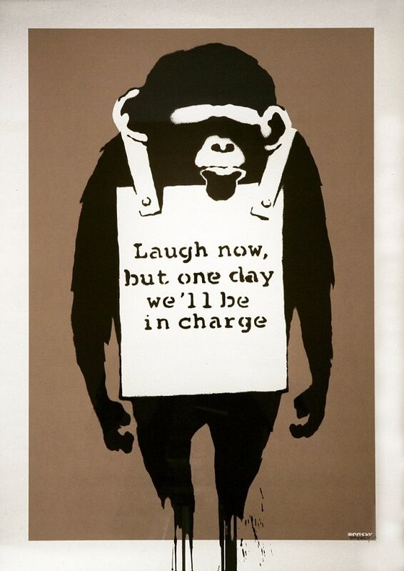 Banksy, 'Laugh Now', 2003, Print, Screenprint on paper, Taglialatella Galleries