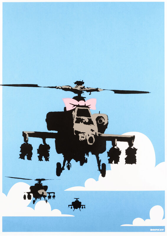 Banksy, 'Happy Choppers', 2003, Print, Screen print in colours on wove paper, Tate Ward Auctions