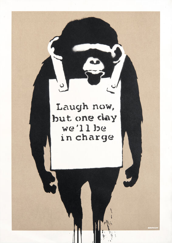 Banksy, 'Laugh Now', 2004, Print, Screenprint in colours on wove paper, Tate Ward Auctions